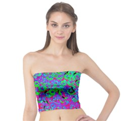 Green Purple Pink Background Tube Top