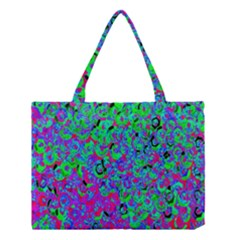 Green Purple Pink Background Medium Tote Bag by Simbadda