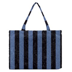 STR1 BK-MRBL BL-DENM Medium Zipper Tote Bag