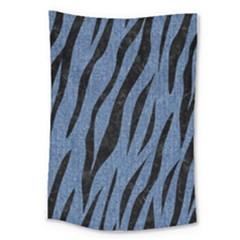 Skin3 Black Marble & Blue Denim (r) Large Tapestry by trendistuff