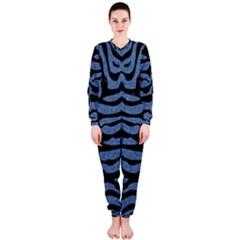 Skin2 Black Marble & Blue Denim (r) Onepiece Jumpsuit (ladies) by trendistuff