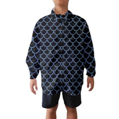 Scales1 Black Marble & Blue Denim Wind Breaker (kids)