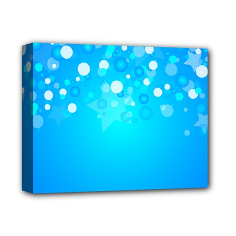 Blue Dot Star Deluxe Canvas 14  X 11  by Simbadda