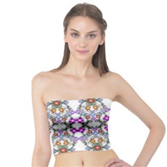 Floral Ornament Baby Girl Design Tube Top by Simbadda