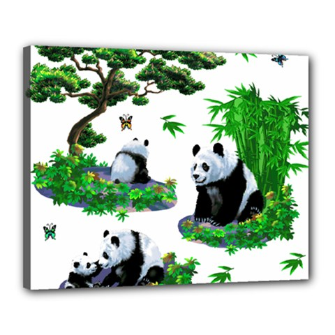 Cute Panda Cartoon Canvas 20  X 16  by Simbadda