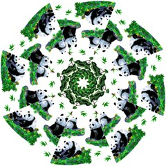 Cute Panda Cartoon Hook Handle Umbrellas (small) by Simbadda