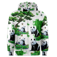 Cute Panda Cartoon Men s Zipper Hoodie by Simbadda