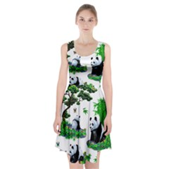 Cute Panda Cartoon Racerback Midi Dress by Simbadda