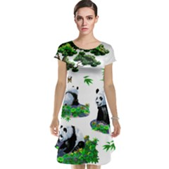 Cute Panda Cartoon Cap Sleeve Nightdress by Simbadda