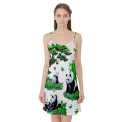Cute Panda Cartoon Satin Night Slip by Simbadda