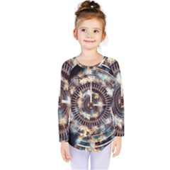 Science Fiction Background Fantasy Kids  Long Sleeve Tee