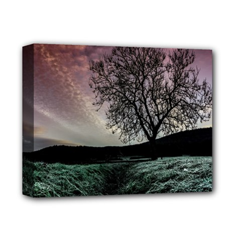 Sky Landscape Nature Clouds Deluxe Canvas 14  X 11  by Simbadda