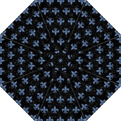 Royal1 Black Marble & Blue Denim (r) Folding Umbrella by trendistuff