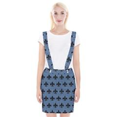 Royal1 Black Marble & Blue Denim Braces Suspender Skirt