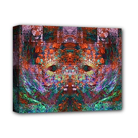 Modern Abstract Geometric Art Rainbow Colors Deluxe Canvas 14  X 11  by CrypticFragmentsColors