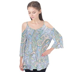 Paisley Boho Hippie Retro Fashion Print Pattern  Flutter Tees by CrypticFragmentsColors