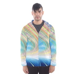Glow Motion Lines Light Hooded Wind Breaker (men) by Alisyart