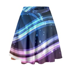 Illustrations Color Purple Blue Circle Space High Waist Skirt by Alisyart