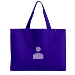 Man Grey Purple Sign Mini Tote Bag by Alisyart