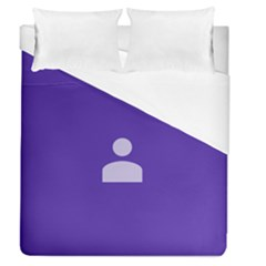 Man Grey Purple Sign Duvet Cover (queen Size) by Alisyart