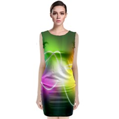 Lines Wavy Ight Color Rainbow Colorful Classic Sleeveless Midi Dress by Alisyart