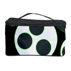 Origami Leaf Sea Dragon Circle Line Green Grey Black Cosmetic Storage Case by Alisyart