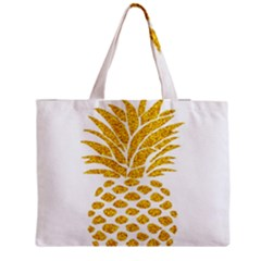 Pineapple Glitter Gold Yellow Fruit Medium Tote Bag by Alisyart