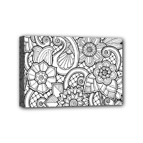 These Flowers Need Colour! Mini Canvas 6  X 4