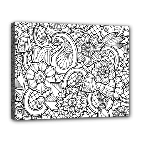 These Flowers Need Colour! Canvas 14  X 11  by Simbadda