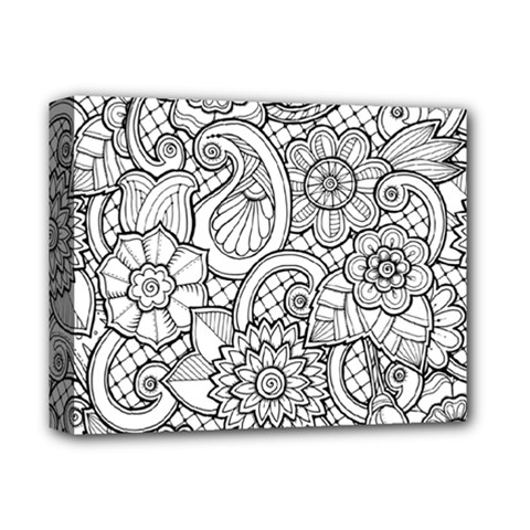 These Flowers Need Colour! Deluxe Canvas 14  X 11  by Simbadda
