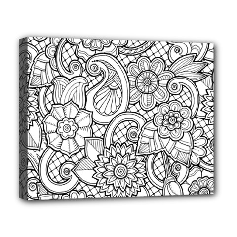 These Flowers Need Colour! Deluxe Canvas 20  X 16   by Simbadda