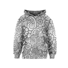 These Flowers Need Colour! Kids  Pullover Hoodie