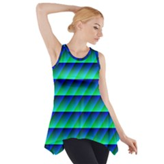 Background Texture Structure Color Side Drop Tank Tunic