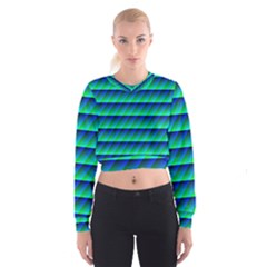 Background Texture Structure Color Women s Cropped Sweatshirt