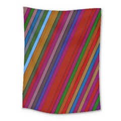 Color Stripes Pattern Medium Tapestry by Simbadda