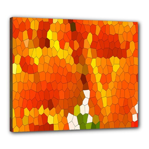 Mosaic Glass Colorful Color Canvas 24  X 20  by Simbadda
