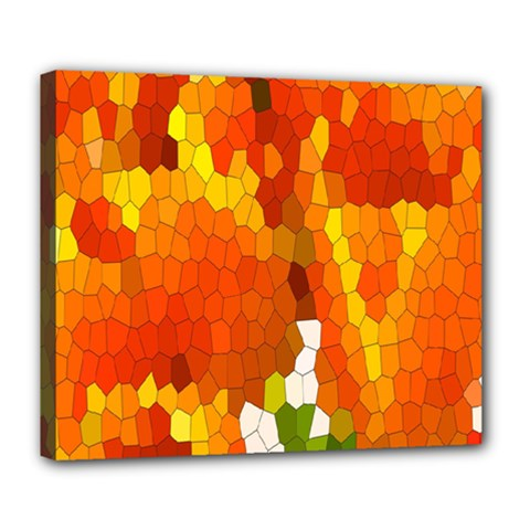 Mosaic Glass Colorful Color Deluxe Canvas 24  X 20   by Simbadda