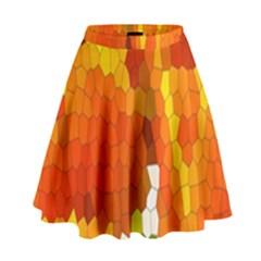 Mosaic Glass Colorful Color High Waist Skirt by Simbadda