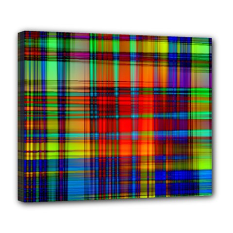 Abstract Color Background Form Deluxe Canvas 24  X 20   by Simbadda