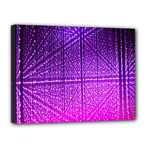Pattern Light Color Structure Canvas 16  X 12  by Simbadda