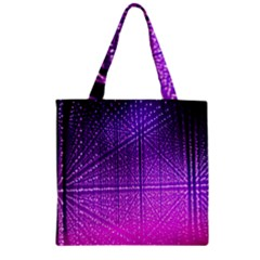 Pattern Light Color Structure Zipper Grocery Tote Bag by Simbadda