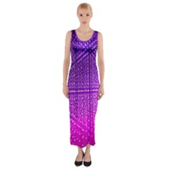 Pattern Light Color Structure Fitted Maxi Dress