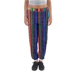Multi Colored Lines Women s Jogger Sweatpants