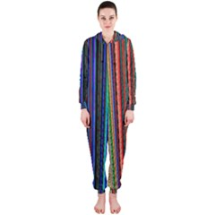 Multi Colored Lines Hooded Jumpsuit (Ladies)