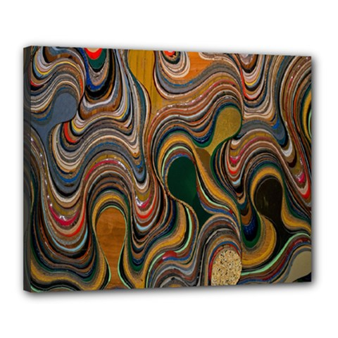 Swirl Colour Design Color Texture Canvas 20  x 16  by Simbadda