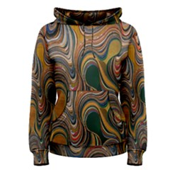 Swirl Colour Design Color Texture Women s Pullover Hoodie