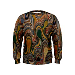 Swirl Colour Design Color Texture Kids  Sweatshirt by Simbadda