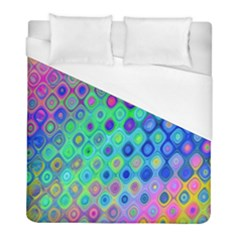 Background Texture Pattern Colorful Duvet Cover (full/ Double Size) by Simbadda