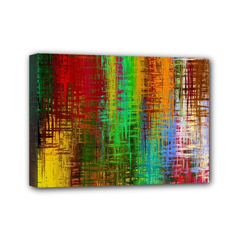 Color Abstract Background Textures Mini Canvas 7  X 5  by Simbadda