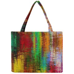 Color Abstract Background Textures Mini Tote Bag by Simbadda